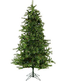 6.5'. Colorado Pine Artificial Christmas Tree with Multi-Color LED String Lighting And Holiday Soundtrack