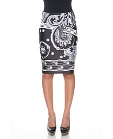 Pretty and Proper Bandana Print Pencil Skirt