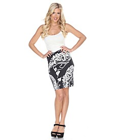 Pretty and Proper Leaf Print Pencil Skirt