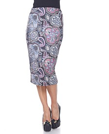 Multi Paisley Midi Skirt