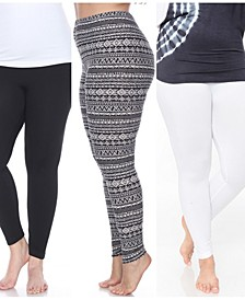 Pack of 3 Plus Size Leggings