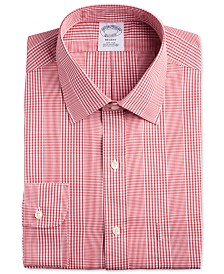Brooks Brothers Men's Regent Classic/Regular Fit Non-Iron Check Dress Shirt