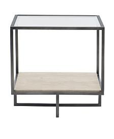 Bernhardt Harlow Metal Square End Table