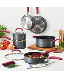 Rachael Ray Create Delicious Hard-Anodized Aluminum Nonstick 11-Pc. Cookware Set