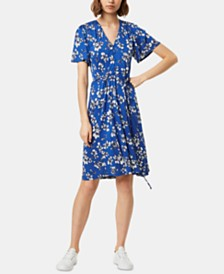 French Connection Fio Floral-Print Fit & Flare Dress