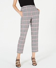 Bar III Plaid Pants, Created for Macy's