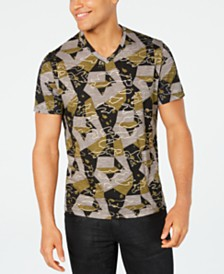 I.N.C. Men's Abstract Geometric T-Shirt, Created for Macy's
