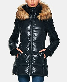 Gramercy Down Puffer Coat with Faux-Fur-Trim Hood