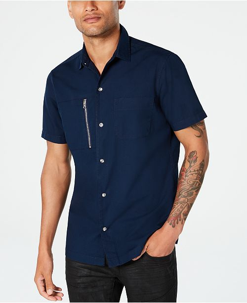 INC International Concepts INC Men's Phillips Utility Shirt, Created for Macy's