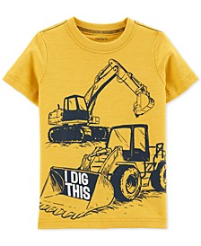 Toddler Boys Dig-Print Cotton T-Shirt