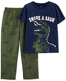 Little & Big Boys 2-Pc. Snore-A-Saur Dinosaur Pajama Set