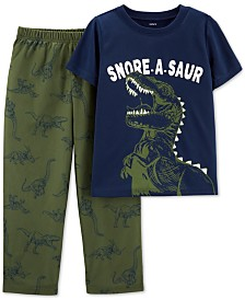 Carter's Little & Big Boys 2-Pc. Snore-A-Saur Dinosaur Pajama Set