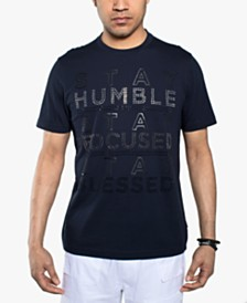 Sean John Men's Stay Humble Rhinestone T-Shirt