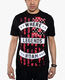 Sean John Men's Where Legends Roam Flag T-Shirt