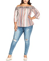 4749dee3ca575 City Chic Trendy Plus Size Off-The-Shoulder Top