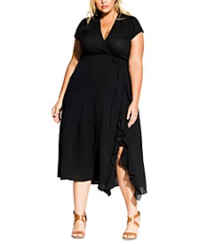 Trendy Plus Size Ruffled Fit & Flare Dress