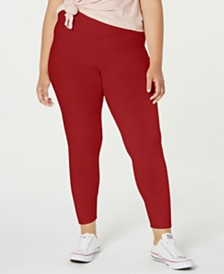 Planet Gold Trendy Plus Size Brushed Jersey Leggings
