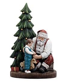 Napco Santa and Child on Rocking Horse