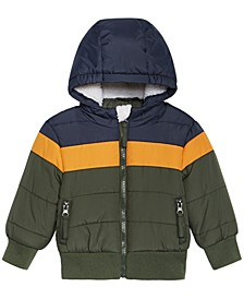 Baby Boys Colorblocked Hooded Bomber Jacket