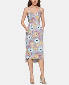 BCBGeneration Printed High-Low Dress