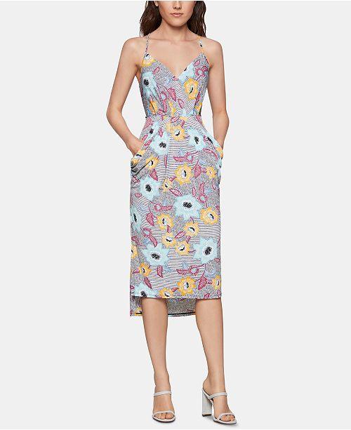 BCBGeneration Printed High-Low Dress