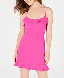 Juniors' Crisscross Ruffle Dress