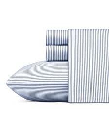 Poppy & Fritz Oxford Stripe Sheet Set, Twin XL