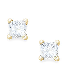 Princess-Cut Diamond Stud Earrings in 10k Gold (1/10 ct. t.w.)