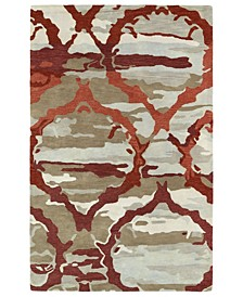 """Brushstrokes BRS02-25 Red 5' x 7'9"""" Area Rug"""