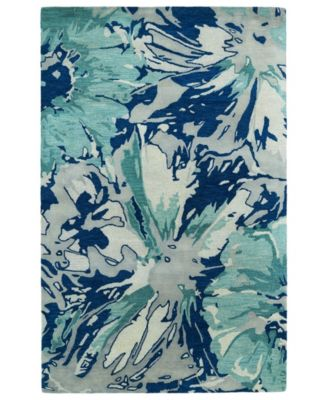 Brushstrokes BRS06-17 Blue 2' x 3' Area Rug