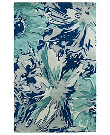 "Brushstrokes BRS06-17 Blue 5' x 7'9"" Area Rug"