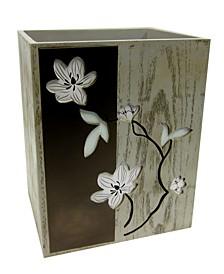Magnolia Floral Wastebasket