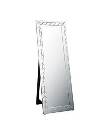 Azahara Chevron Standing Floor Mirror