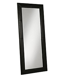 Kiowa White Leather Floor Mirror