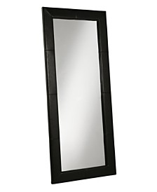 Abbyson Living Kiowa White Leather Floor Mirror