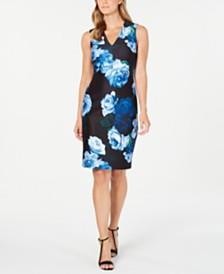 Calvin Klein Dewdrop Floral-Print Sheath Dress