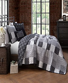 Evangeline 5-Pc. King Patchwork Quilt Set