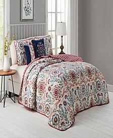 Valena 4p-Pc. Twin Floral Reversible Quilt Set