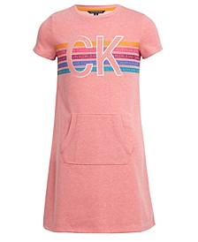 Big Girls Kangaroo-Pocket Logo Dress