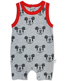 Baby Boys Cotton Mickey Mouse Romper