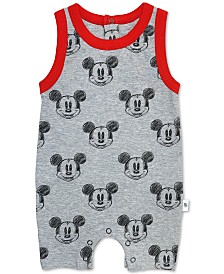 finn + emma Baby Boys Cotton Mickey Mouse Romper