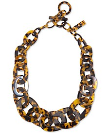 "Acetate Link Statement Necklace, 21-1/2"" + 1"" extender"