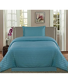 Striped Damask 2-Pc. Twin Duvet Set