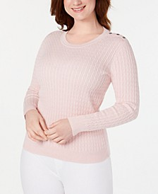 Cotton Baby Cable-Knit Sweater, Created for Macy's