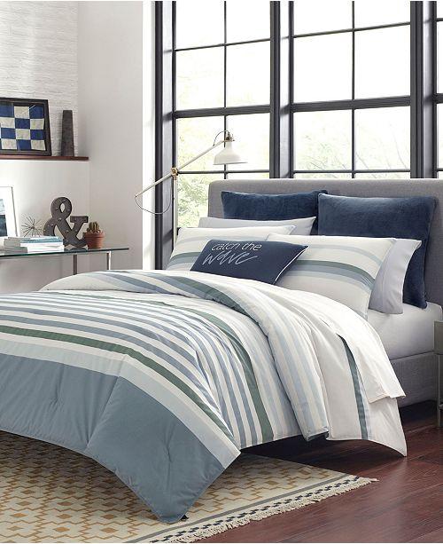 Nautica Lansier Grey Comforter Sham Set, Full/Queen