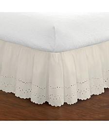 Ruffled Eyelet Queen Bed Skirt
