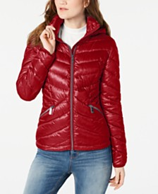 Calvin Klein Chevron Packable Down Puffer Coat, Created for Macy's