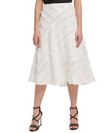 DKNY Fringe-Trim Midi Skirt