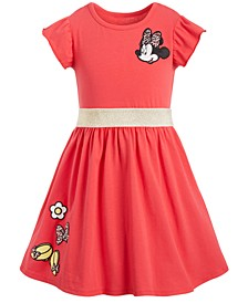 Little Girls Minnie Mouse Patches Dress