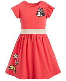 Disney Toddler Girls Minnie Mouse Patches Dress